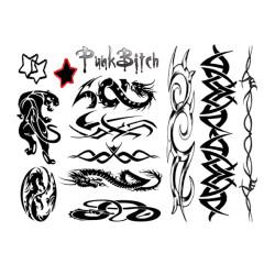 Punk Bitch Tattoo Set E21256 4