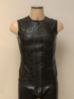 Latex Shirt L003 Zwart