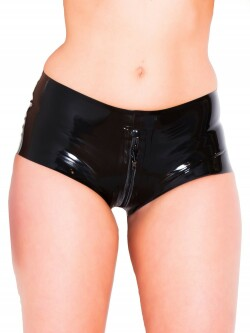 Latex Zip-Thru Shorts R1800