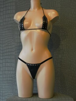 Leren String Bikini BH55+DS58 1