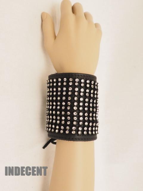 Leren Armband met Strass Pols03