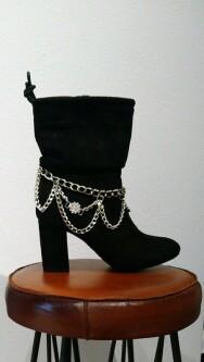 Metelen schoenversiering met strass. shoe-ankle 01