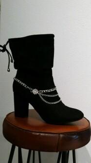 Metalen schoenversiering met strass. shoe-ankle 03