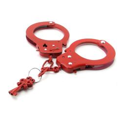 Rode metalen handboeien 3801-15