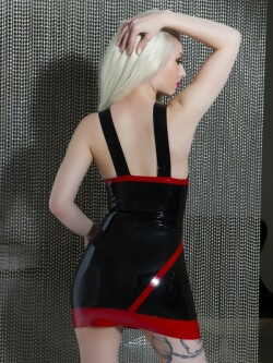 Latex jurk SR1138.B/R 3