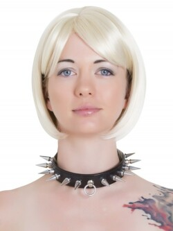 Lederen collar met spikes L2604.BLK 1