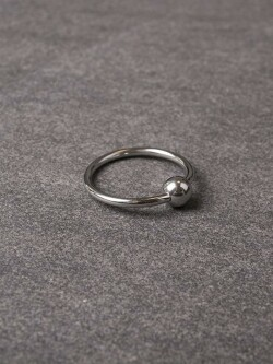 Glans-ring met balletje 112-tbj-2069