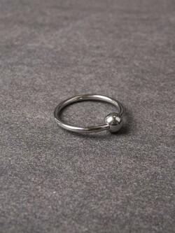 Glans-ring met balletje 112-tbj-2069 1