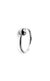 Glans-ring met balletje 112-tbj-2069 2