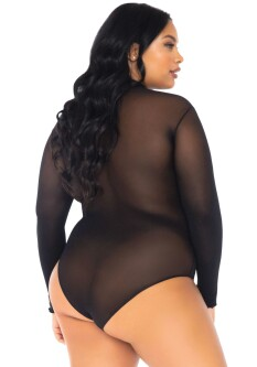 Plus Size Tule Body 89228X 2