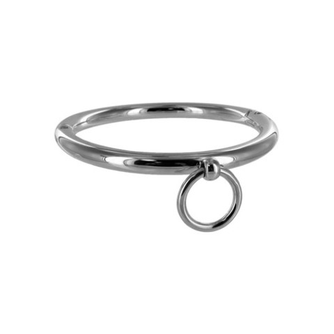 Stalen halsband met ring ac515