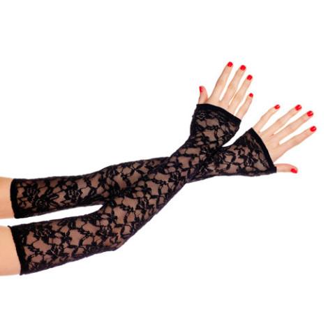 Kanten vingerloze handschoenen 475-BLACK