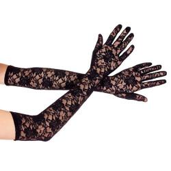 Lange kanten handschoenen 464-Black