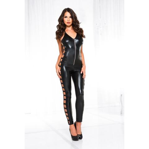 Wetlook catsuit 60068-BLACK