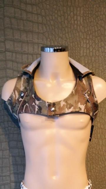 Camouflage Leren Borstharnas MLH01