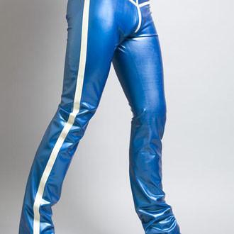 Blauwe Latex Broek MPR02-CW