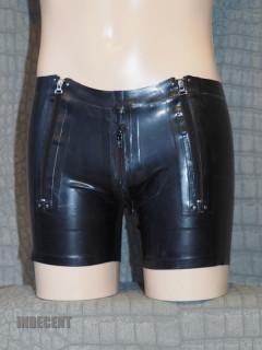 Zwarte latex Short MZS02