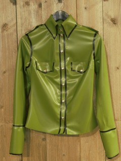 Palmgroene Latex Blouse WMS01palm