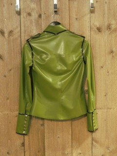 Palmgroene Latex Blouse WMS01palm 2