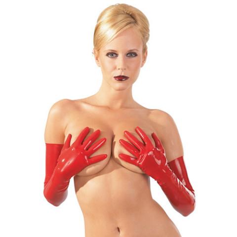 Rode latex handschoenen 2900149