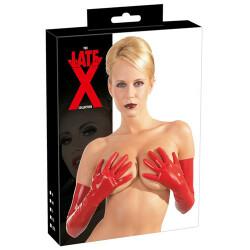 Rode latex handschoenen 2900149 2