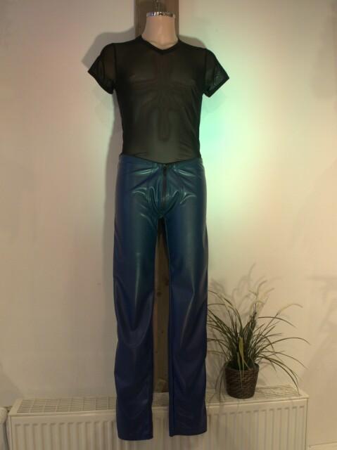 Kunstleren Blauwe Lange Broek Tykaboom Blauw