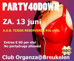 Party 40 Down organza-breukelen