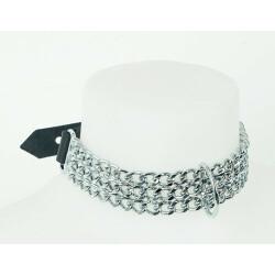 Leren halsband met kettingen 20303731001 2