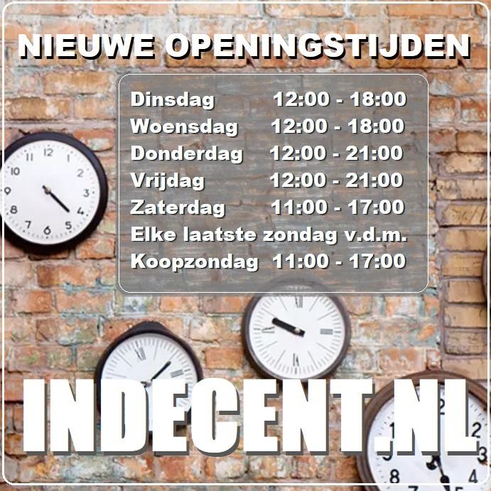 indecent openingstijden